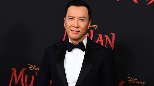 L'acteur hongkongais Donnie Yen en mars 2020, à l'avant-première de Mulan.