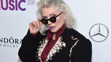 Debbie Harry, la chanteuse du groupe Blondie, en décembre 2016 à New York, aux Billboard Women in music.