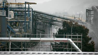Vue de l'usine Lubrizol.