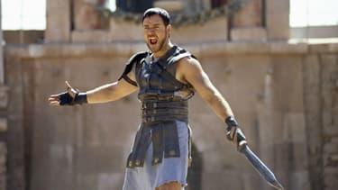 """Russell Crowe dans """"Gladiator"""" en 2000"""