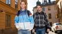 Peter Sunde et Fredrik Neij arrivant à leur procès en appel en 2010