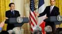 Lors d'une conférence de presse commune à la Maison blanche, Barack Obama et Nicolas Sarkozy ont ont déclaré que le temps était venu de sanctionner l'Iran pour son programme nucléaire. /Photo prise le 30 mars 2010/REUTERS/Jonathan Ernst