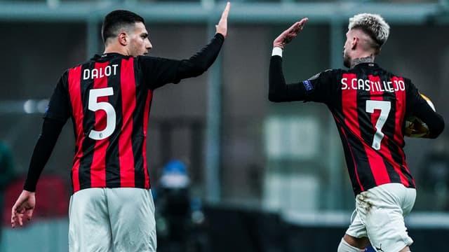 Diogo Dalot et Samu Castillejo (AC Milan)