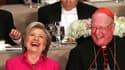Hillary Clinton et Donald Trump participent à un dîner de charité catholique à New York, le Al Smith Dinner, vendredi 20 octobre 2016.