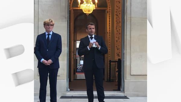 Emmanuel Macron devant les parlementaires de la majorité le 27 juillet 2020
