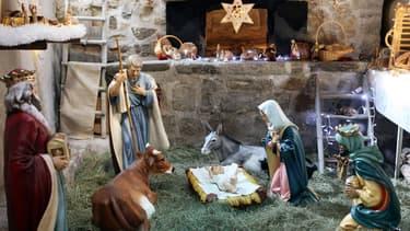 Une crèche de Noël a été désinstallée, au conseil général de Vendée, à la suite d'une décision du tribunal administratif de Nantes. (Photo d'illustration)