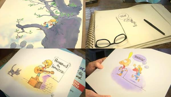 Les dessins de Zep pour l'album de Renaud