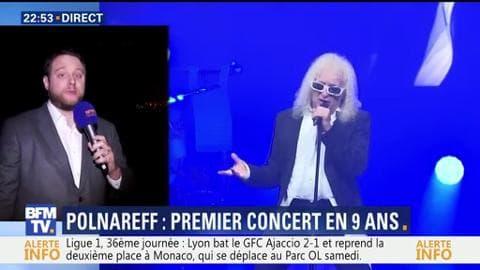 Michel Polnareff fait son grand retour sur scène