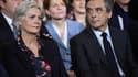 François Fillon et son épouse Penelope lors d'un meeting le 29 janvier 2017 à Paris.