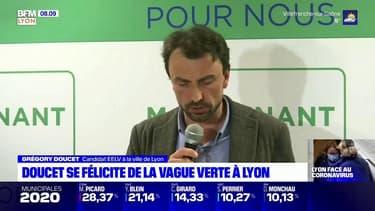 Municipales: en tête au premier tour, Grégory Doucet se félicite de la vague verte à Lyon