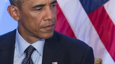 Le président américain Barack Obama lors du sommet de l'Otan, au Pays de Galles, vendredi 5 septembre 2014.