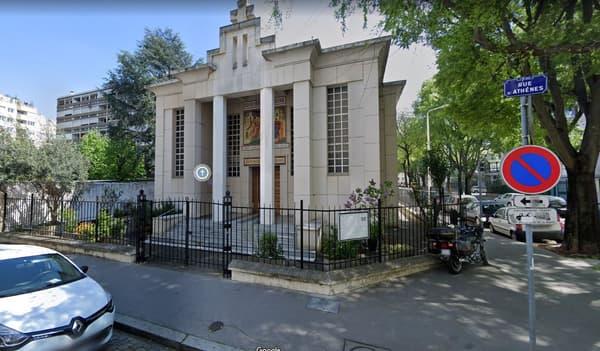 L'église orthodoxe grecque à Lyon où s'est déroulée l'attaque.