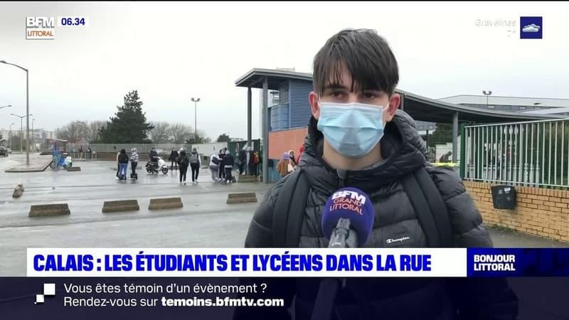 Calais: les étudiants et les lycéens dans la rue