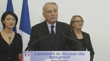Jean-Marc Ayrault à l'occasion du lancement du site de données publiques data.gouv.fr
