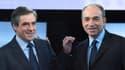 François Fillon et Jean-François Copé lors du débat pour la présidence de l'UMP, le 26 octobre 2012