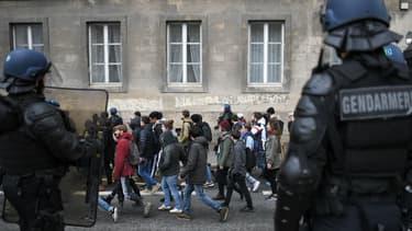 Une manifestation d'étudiants à Nantes, le 28 mars 2018