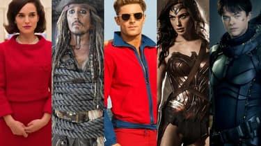 """""""Jackie"""", Pirates des Caraïbes: la vengeance de Salazar"""", """"Baywatch"""", """"Wonder Woman"""" et """"Valérian et la cité des mille planètes"""" sortiront tous en 2017."""