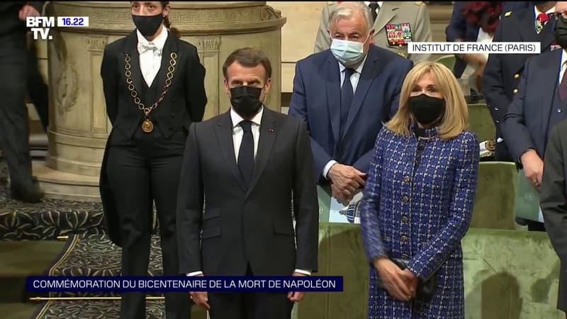 Hommage à Napoléon 1er: Emmanuel Macron arrive à l'Institut de France