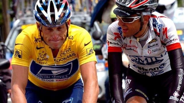 Filippo Simeoni et Lance Armstrong