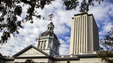 Le Capitole de Floride à Tallahassee, là où des manifestants pro-Trump sont attendus dimanche pour s'opposer aux résultats électoraux certifiant la victoire de Joe Biden.