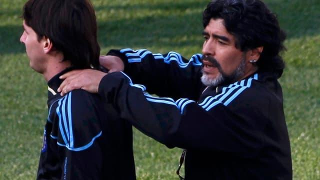 Diego Maradona et Lionel Messi