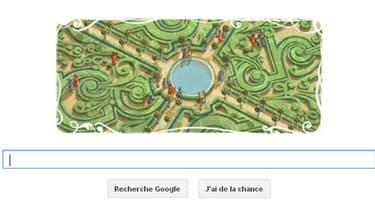 Google célèbre le 400e anniversaire de la naissance d'André LeNôtre dans son doodle du jour.