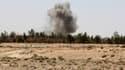 De la fumée s'échappant le 9 juillet dernuerdu village irakien de Fallujah, zone de combat entre les soldats de l'armée irakienne et les combattants jihadistes