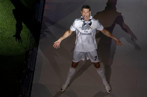 Cristiano Ronaldo après avoir remporté la Ligue des champions avec le Real Madrid en 2014