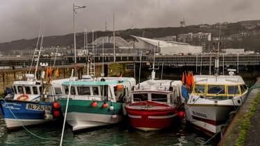 Des pêcheurs à Boulogne-sur-Mer.