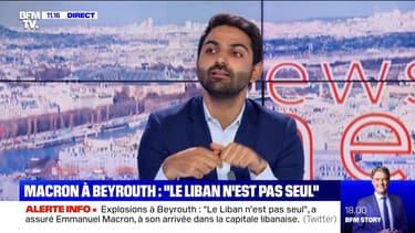 """Macron à Beyrouth : """"le Liban n'est pas seul"""" - 06/08"""