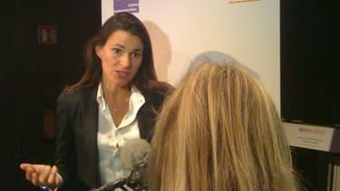 La ministre de la culture Aurélie Filippetti lors du lancement de la mission Lescure