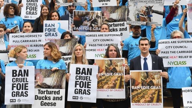 Le conseil municipal de New York a adopté hier mercredi 30 octobre un texte interdisant la commercialisation du foie gras à partir de 2022, décision qui devrait priver l'industrie, locale en particulier, d'un marché important.