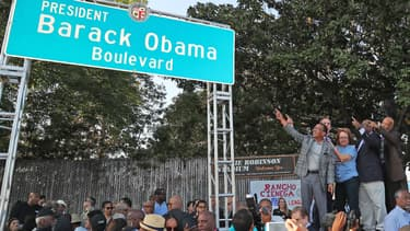 Le boulevard Barack Obama à Los Angeles