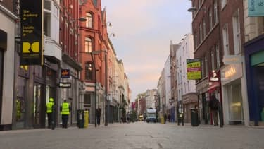 Les rues de Dublin à nouveau désertes alors que l'Irlande vient de se reconfiner