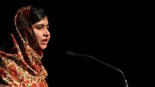 La jeune pakistanaise de 16 ans, Malala pourrait remporter le prix Nobel de la Paix. Elle se trouve ici à Dublin le 17 septembre dernier