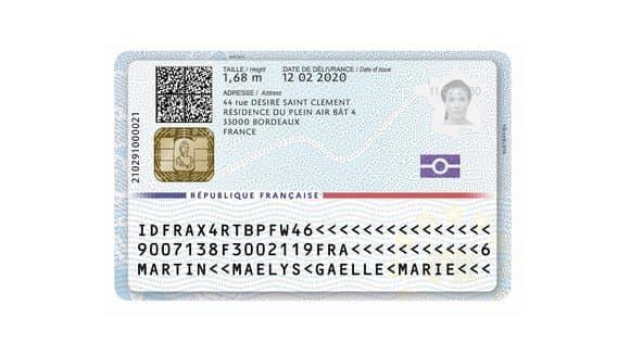 La nouvelle carte d'identité biométrique.