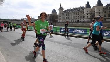 Des coureurs du Marathon de Paris en avril 2018.