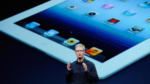 Tim Cook, le patron d'Apple, lors de la présentation de l'iPad Mini