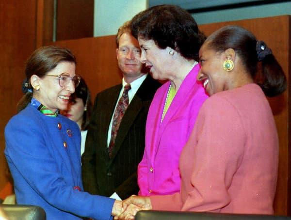 Ruth Bader Ginsburg le jour de sa nomination à la Cour suprême, en 1993.