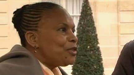 Christiane Taubira à l'issue du Conseil des ministres, mercredi 30 janvier 2013