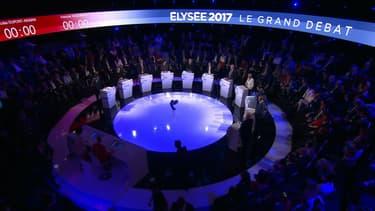 Les 11 candidats au débat de BFMTV.