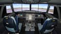 Un simulateur d'A320, en octobre 2011