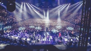 Le concert d'Ibrahim Maalouf à l'AccorHotels Arena, le 14 décembre 2016.