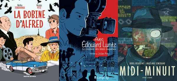 Couvertures de BD parlant de cinéma