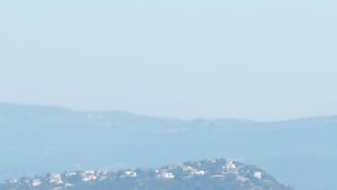 La presqu'île de Giens vue du ciel.