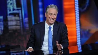 """Jon Stewart sur le plateau du """"Daily Show"""" pour sa dernière. - Brad Barket / Getty Images North America / AFP"""