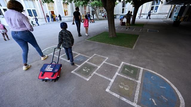 La rentrée dans une école élémentaire de Montpellier le 1er septembre 2020 (photo d'illustration)