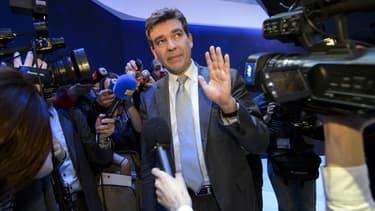 Arnaud Montebourg, ce mardi au Salon de l'Automobile à Genève.