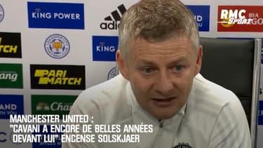"""Manchester United :  """"Cavani a encore de belles années devant lui"""" encense Solskjaer"""