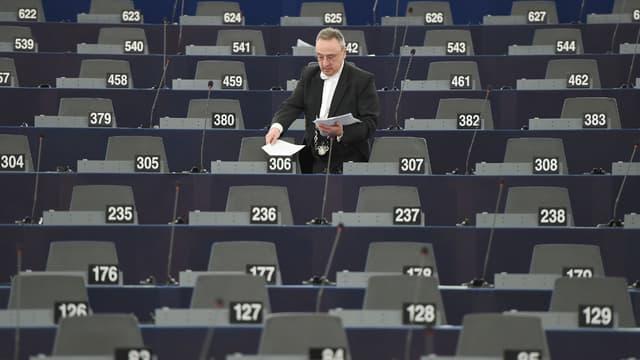 Illustration - Le 12 mars 2019 avant une réunion plénière du Parlement européen à Strasbourg